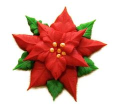 How To Make a Buttercream Poinsettia - Cake Central Community (How To Make Christmas Cake) Christmas Cake Designs, Christmas Cake Decorations, Christmas Cupcakes, Holiday Cakes, Christmas Ideas, Cake Icing, Buttercream Cake, Cupcake Cakes, Buttercream Ideas