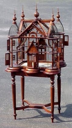 Victorian Bird Cage Photo: Victorian furniture elegant wood work beautiful perfect bedroom roleplay rp role play white velvet silk carve carved detail go. Victorian Furniture, Antique Furniture, Repurposed Furniture, Industrial Furniture, Cage Deco, Duomo Milano, Antique Bird Cages, Vintage Birds, Vintage Birdcage