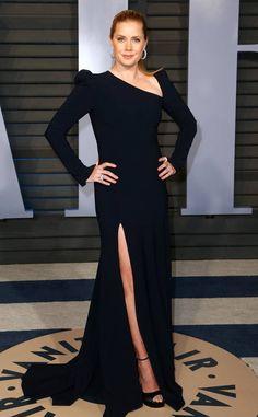Amy Adams in Christian Siriano at the 2018 Vanity Fair Oscars Party Amy Adams, Christian Siriano, Rashida Jones, Elizabeth Banks, Liam Hemsworth, Toni Garrn, Sienna Miller, Robes D'oscar, Oscar Verleihung