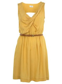 miss selfridge ochre cowl pintuck dress $33