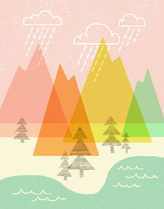 Raindrop Valley Print by automatte on Etsy, $15.00