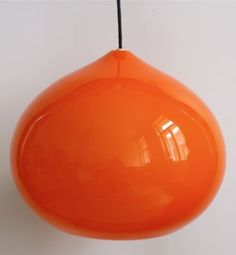 1960s GINO VISTOSI ORANGE GLASS PENDANT LAMP MURANO | eBay ($500-5000) - Svpply