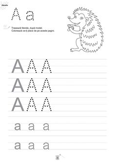 Magia literelor-caiet de fise de lucru pentru grupa mare Alphabet Writing, Alphabet Worksheets, Learning The Alphabet, Kindergarten Worksheets, Kids Learning, Numbers Preschool, Preschool At Home, Preschool Activities, School Lessons