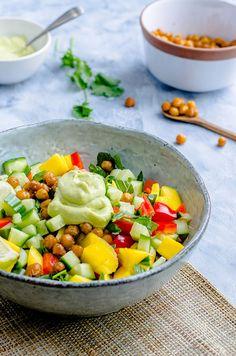 Healthy Salads, Healthy Recipes, Healthy Food, Tapas, Avocado Dressing, Vegetable Salad, Salad Recipes, Healthy Lifestyle, Food Porn