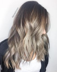 Brown Choppy Hair With Ash Blonde Balayage