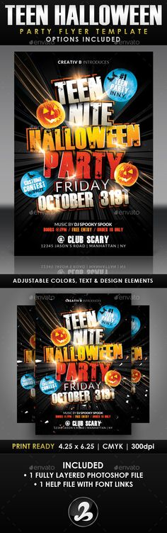 Halloween Party Flyer Template Halloween party flyer, Party flyer