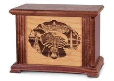 The Lifescenes #urn is now available at http://www.thecasketstore.com in the wood urns section. The urn is solid black walnut with a cherry hardwood panel. Stirring scenes of North American regional themes provide families with options for personalizing their tribute to their loved one. The urn features interchangeable cherry hardwood laser-engraved panels. (See other views/images for available panels - panels can also be engraved.) Price: $385.00