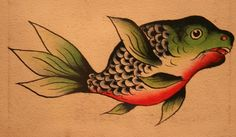 Tattoo flash by Amund Dietzel. Currently on view at the Milwaukee Art Museum. Click through for more.