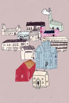 Klara Persson, houses, buildings, village,town