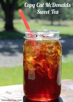 Copy Cat McDonalds Sweet Tea recipe!