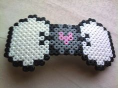 Companion Cube perler bead Bow by GeekyGamerShop on deviantart