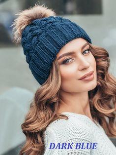 2886a607d6d Fur pom pom hat fleece lined
