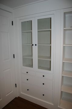 Ikea Hacked Hemnes Built ins. Way to create a 'built in' butler's pantry.