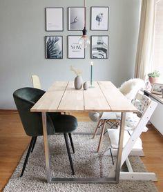 DIY Esstisch mit Kufengestell