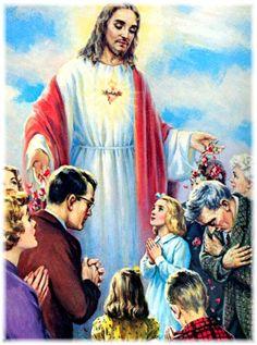 """1ª Promessa: """"A minha bênção permanecerá sobre as casas em que se achar exposta e venerada a imagem de meu Sagrado Coração""""."""