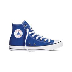Converse Chuck Taylor All Star High Top Sneaker - Roadtrip Blue Casual... (29.460 CRC) ❤ liked on Polyvore featuring shoes, sneakers, casual footwear, casual shoes, lace up sneakers, blue high tops, lacing sneakers, star shoes and converse high tops
