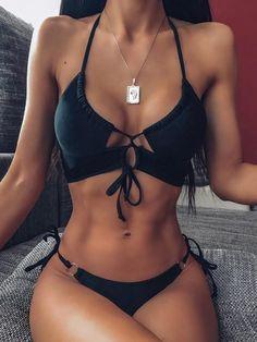Summer Bathing Suits, Ruffle Swimsuit, Push Up Bikini, Bikini Set, Bikini Swimwear, Women Swimsuits, Kimono, Black Bikini, Sexy Bikini