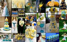 yellow and lavender country weddings | Blue and Yellow Wedding Theme