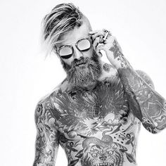 Men style tattoo