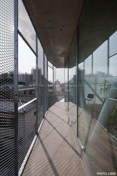 Metal Net, Balcony Railing, Building Materials, Hostel, Architecture Details, Facade, Design Inspiration, Construction, Studio