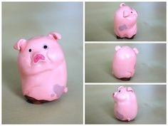 Waddles the Pig by lonelysouthpaw on deviantART Polymer Clay Projects, Polymer Clay Charms, Clay Crafts, Crafts To Do, Crafts For Kids, Craft Kids, Art N Craft, Pasta Flexible, Fall Diy