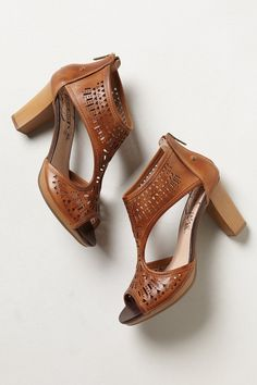Denia Lasercut Heels | Anthropologie