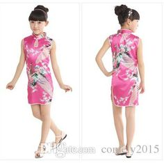 2015 Hot Chinese Style Kid Child Girl QiPao Dresses Baby Peacock Cheongsam Dress Qipao for Girls 1-7 Years Clothes Online with $11.23/Piece on Comely2015's Store | DHgate.com