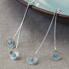 Blossom Drop Earrings | Contemporary Earrings by contemporary jewellery designer Sophie Honeybourne