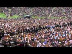The New Apostolic Church celebrated Pentecost Day in a grand style at Olympia stadium in West Germany. Olympia Stadium, Pentecost, Church Building, Kirchen, Dolores Park, Buildings, Germany, Around The Worlds, News