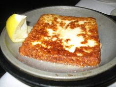No trip to Greektown is complete without saganaki.  After all, this is a dish that was reportedly originated in Chicago -- the Parthenon claims to have invented the flaming Greek cheese. OPA!