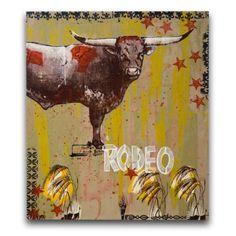 """Midnight Rodeo"" - Art Print on Wood - by Artist Dolan Geiman"