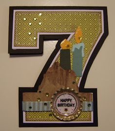 Birthdays - by the number. Popular Pins, Paper Crafting, Cardmaking, Card Ideas, Birthdays, Sew, Diy Crafts, Fancy, Number