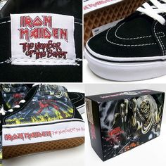 rare vans | Details about NEW RARE VANS LIMITED SK8-HI TOP IRON MAIDEN NUMBER OF ...