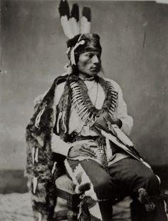 Che-wakoo-ka-ti (aka Black Fox), the son of Black Bear - Pawnee - 1877