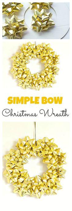 Simple Bow Christmas Wreath