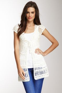 Simply Irresistible Crochet Tunic Cardigan