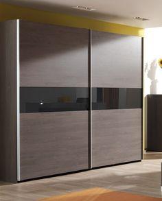Grande armoire 250 cm en bois avec porte coulissante