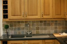 I have painted many backsplashes to look like tile and it is an easy and inexpensive solution. First paint the base color tha. Wooden Kitchen, Kitchen Backsplash, New Kitchen, Kitchen Decor, Kitchen Cabinets, Paint Backsplash, Backsplash Ideas, Kitchen Facelift, Kitchen Artwork