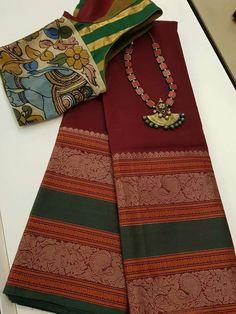 Discover thousands of images about Reshma Pushkaran Cotton Saree Designs, Pattu Saree Blouse Designs, Cotton Sarees Handloom, Simple Sarees, Designer Blouse Patterns, Blouse Models, Saree Shopping, Elegant Saree, Designer Sarees