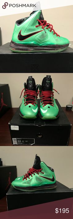 Nike LeBron James 10 Cutting Jade Fits snug. Worn lightly, still in excellent condition. Not really wanting to get rid of, just cleaning out closet. Original Box. Taking offers. Nike Shoes Athletic Shoes