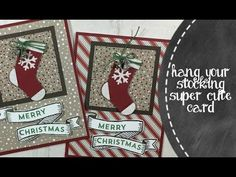 Stampin' Up! Fancy Fold Card with Candy Cane Lane DSP - YouTube