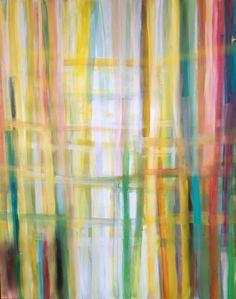 "Sarah Struck 4' x 5' acrylic on canvas  ""Green Up"""