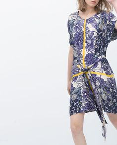 PRINTED TUNIC-View all-Dresses-WOMAN   ZARA United States