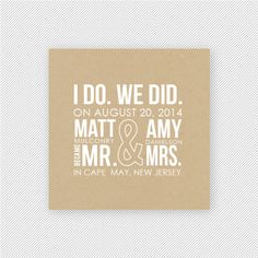 Since we are already technically married bc we went to the courthouse, I love this wording for the invites when we have the reception!