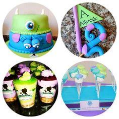 #cakesideas #cakebday #mounsterparty #minitriffles