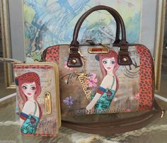New+'Nicole+Lee'+Exclusive+Tina+Print+Boston+Satchel+w/+Strap+&+Wallet+#NicoleLee+#ShoulderBag
