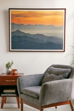 Guido Montanes Sunset Mountains Art Print