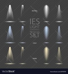 Vector Light Effect Spotlight with Transparent Background Set. Download a Free Preview or High Quality Adobe Illustrator Ai, EPS, PDF and High Resolution JPEG versions.