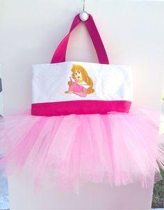Pink Glittery Princess Aurora Tutu Bag - Sleeping Beauty Bag - Dance Bag - Tutu Purse on Etsy, $32.00
