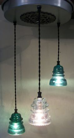 Sold industrial pendant lights made from antique glass insulators sold industrial pendant lights made from antique glass insulators darkened brass fittings farm house pinterest glass insulators antique glass and aloadofball Choice Image